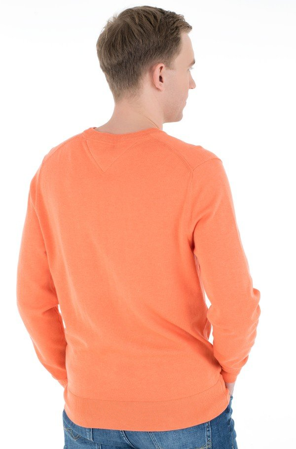 ORGANIC COTTON BLEND CREW NECK-hover