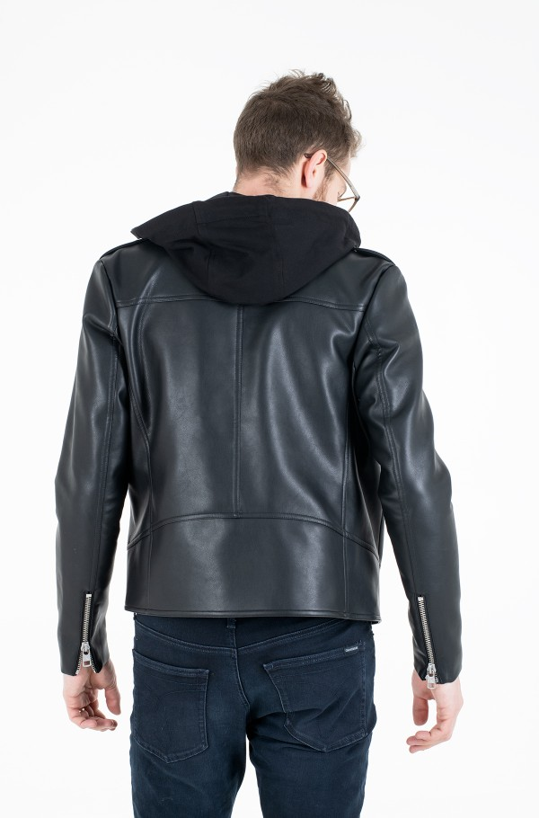 FAUX LEATHER JACKET-hover