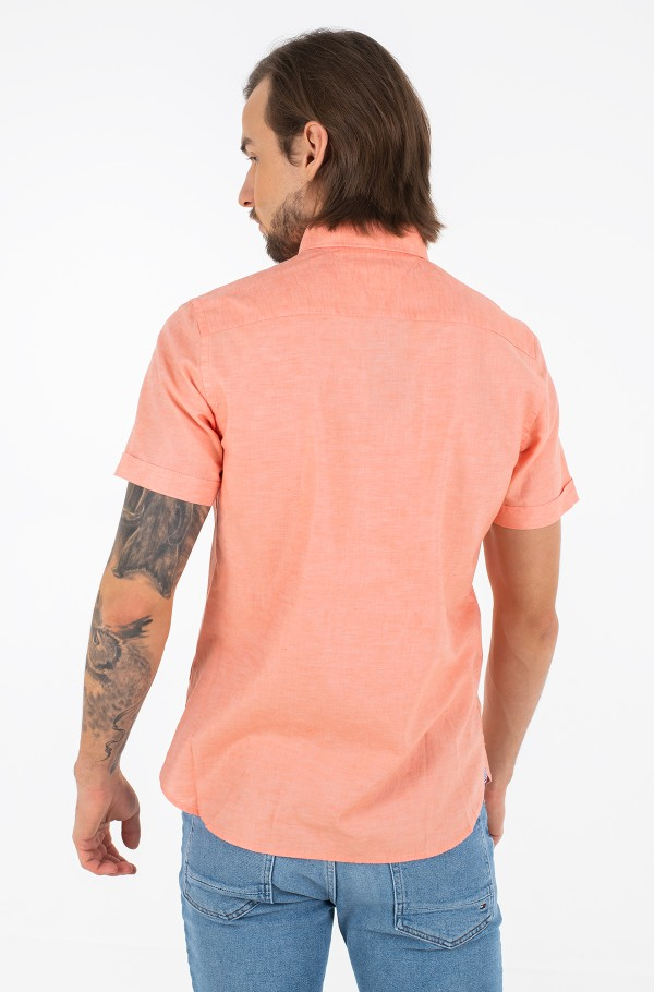 SLIM CO/LI TWILL SHIRT S/S-hover