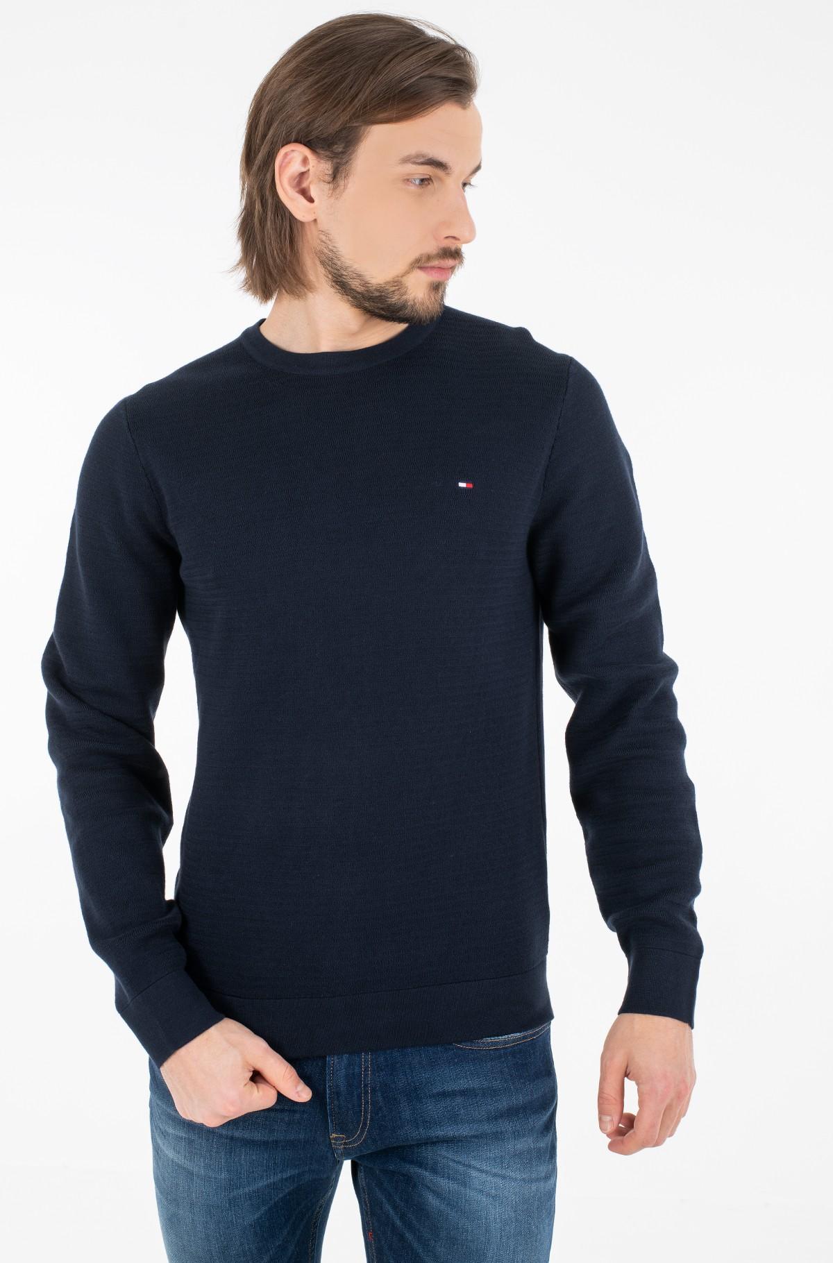 Megztinis FINE ZIG ZAG STRUCTURE CREW NECK-full-1