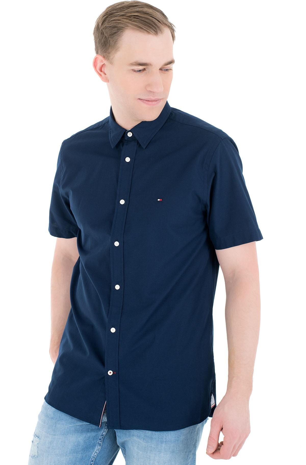 Short sleeve shirt GRID DOBBY SHIRT S/S-full-1
