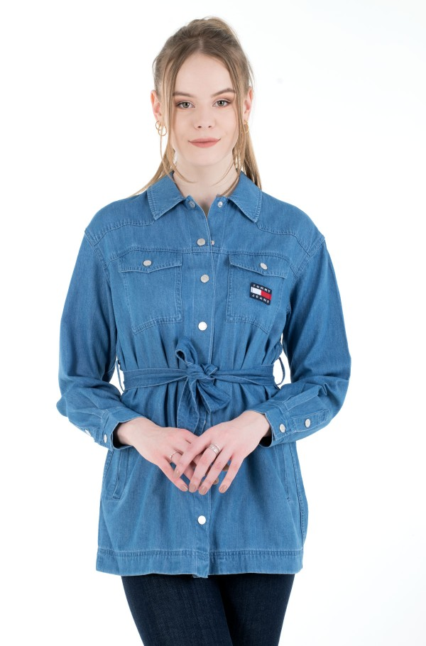 TJW BOYFRIEND BELTED OVERSHIRT-hover