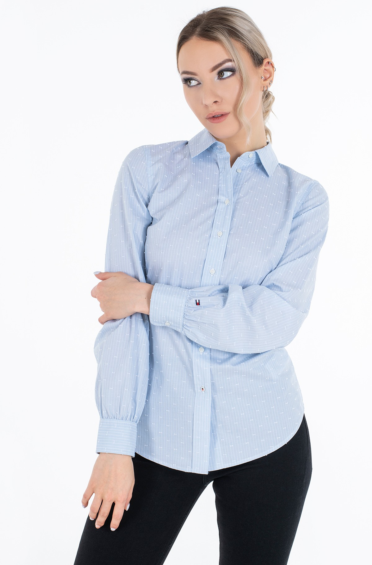 Shirt COTTON CLIP DOT REGULAR SHIRT LS-full-1