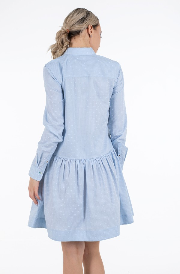 POP DOBBY SHORT SHIRT DRESS LS-hover