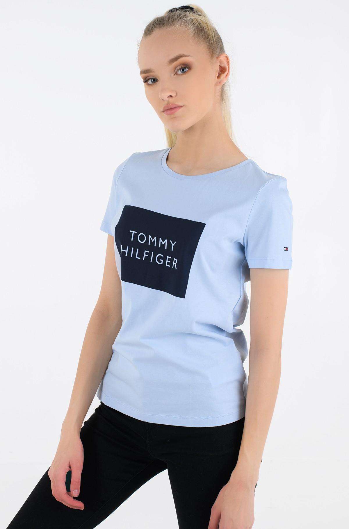 T-shirt REGULAR TOMMY BOX C-NK TEE SS -full-1
