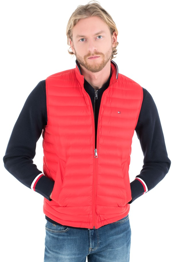 PACKABLE DOWN VEST-hover