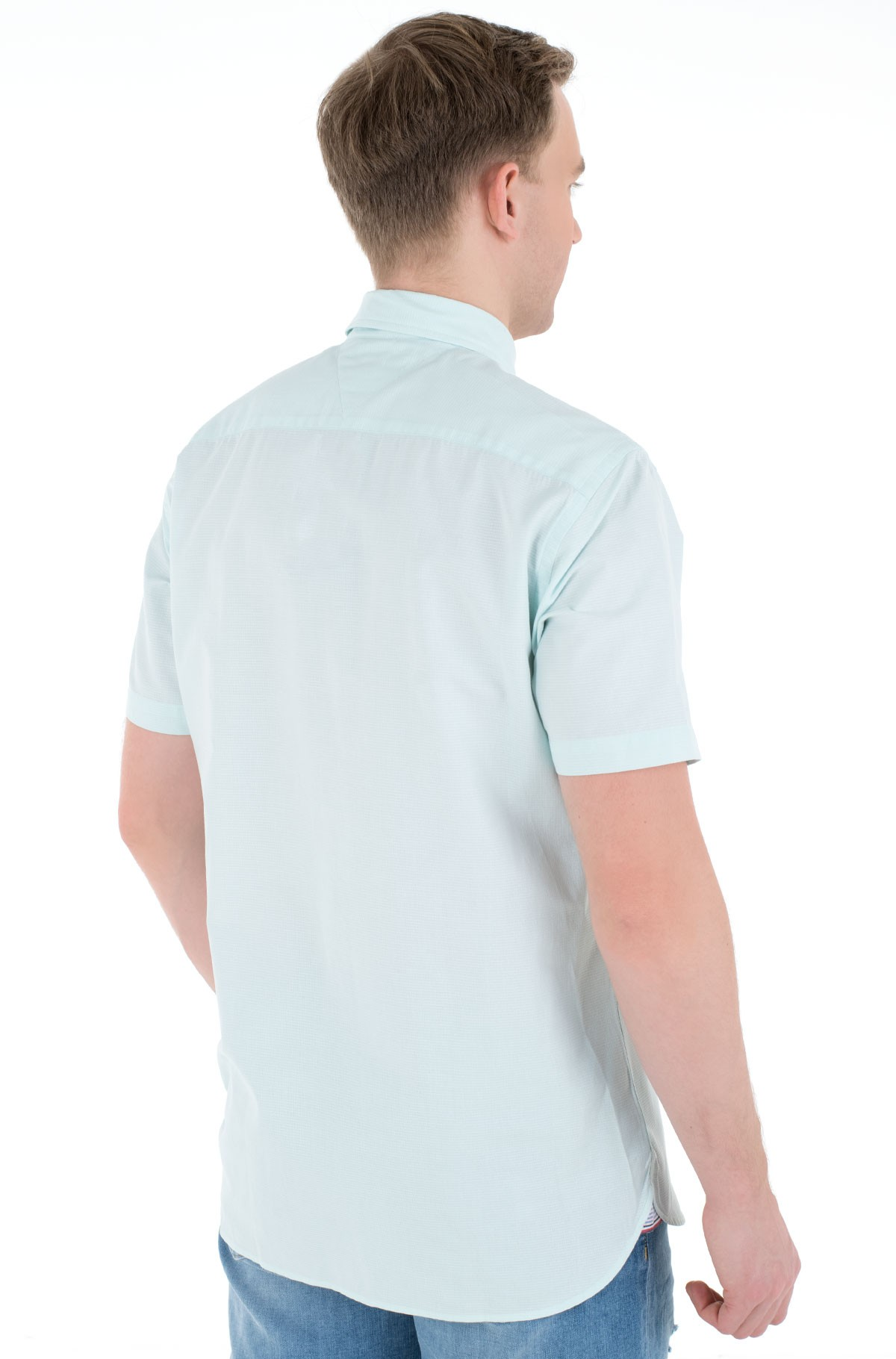 Short sleeve shirt GRID DOBBY SHIRT S/S-full-3