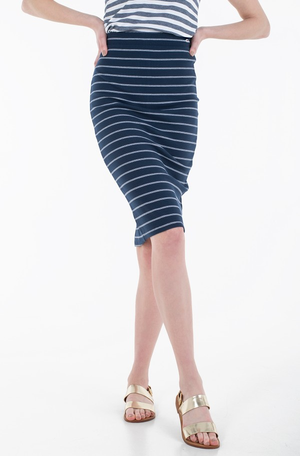 TJW LONG BODYCON STRIPES SKIRT