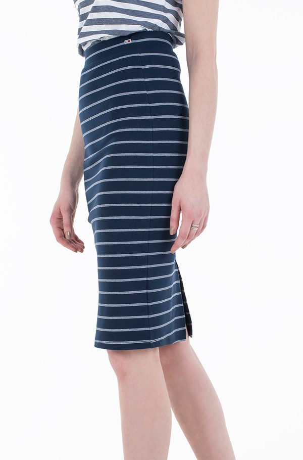TJW LONG BODYCON STRIPES SKIRT-hover