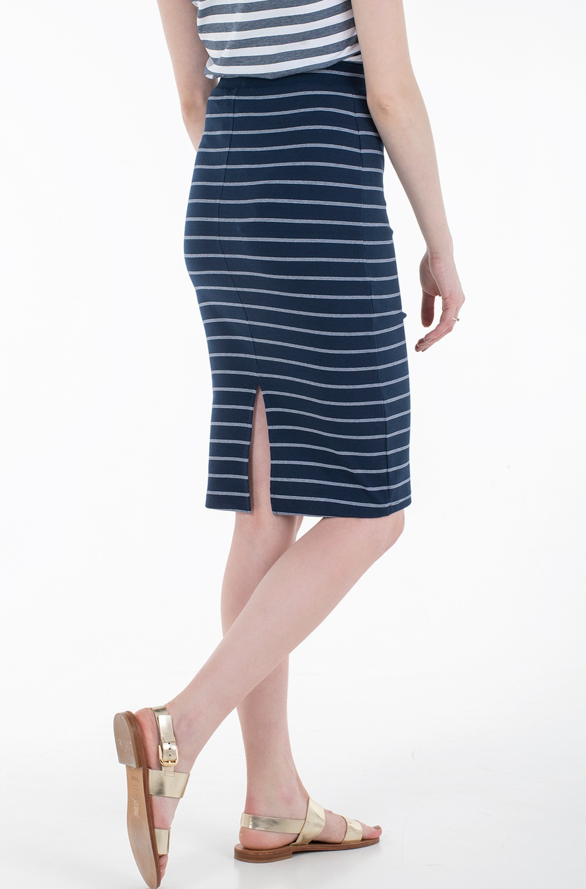 Seelik TJW LONG BODYCON STRIPES SKIRT-full-4