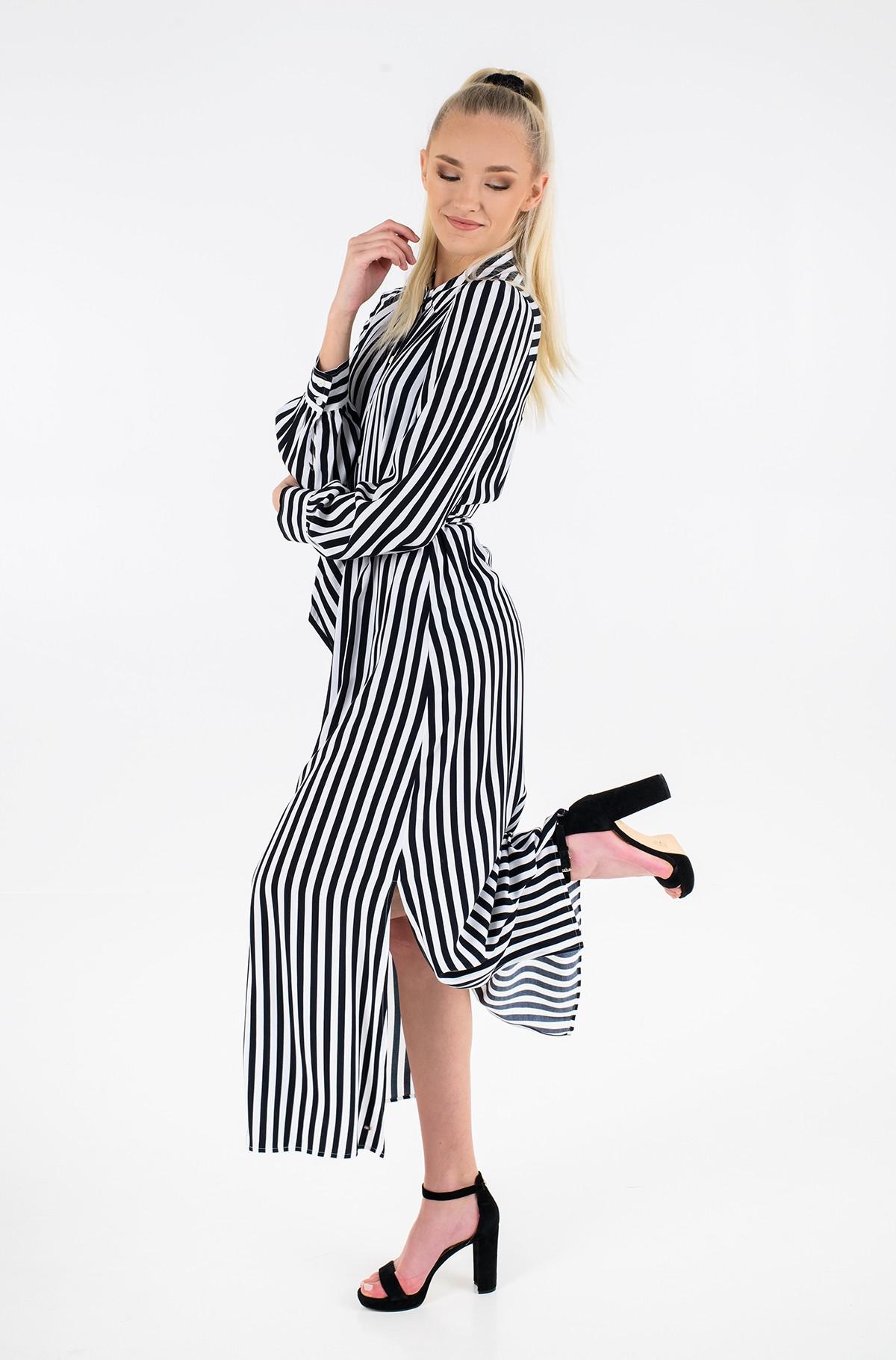 Maxi dress VISCOSE CDC LONG SHIRT DRESS LS-full-1