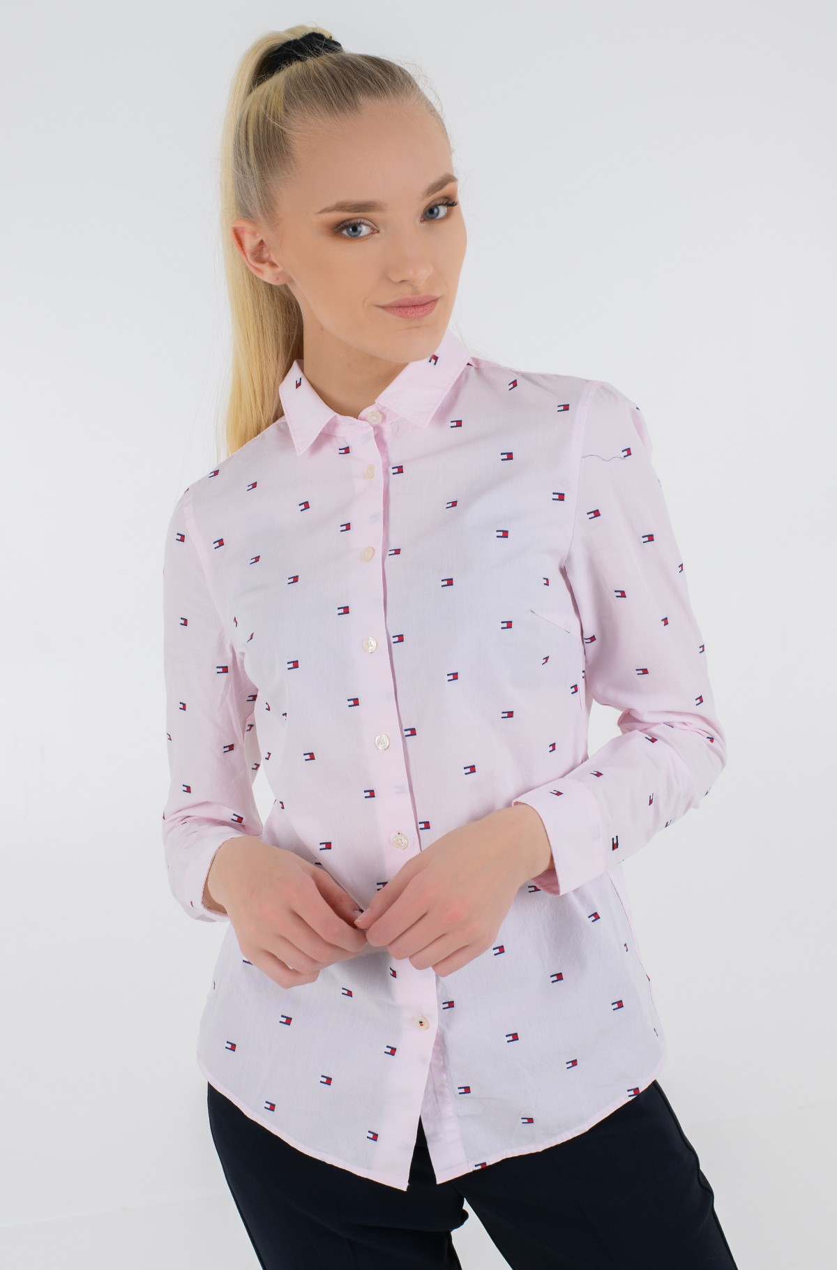 Marškiniai FELICIA REGULAR SHIRT LS-full-2