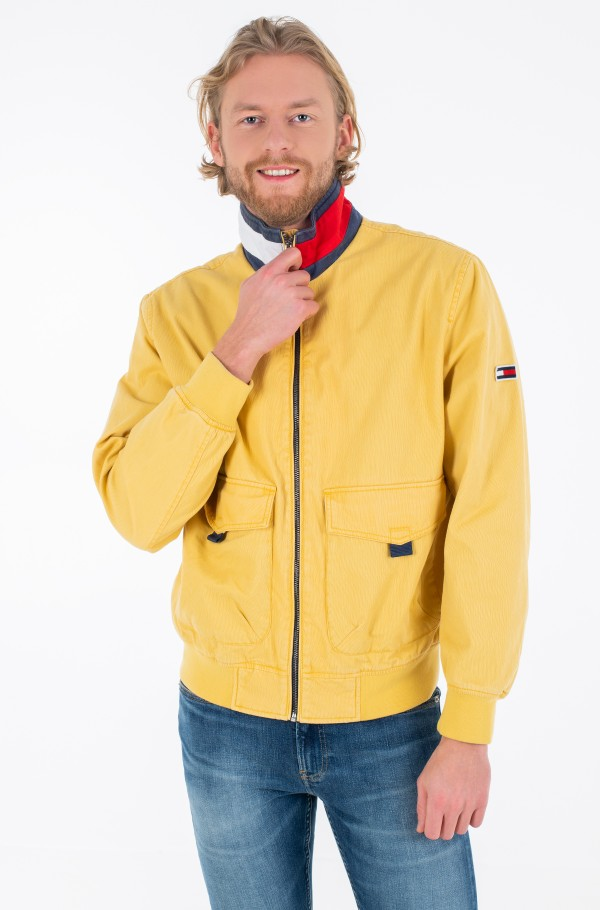 TJM COTTON FLAG COLLAR BOMBER-hover