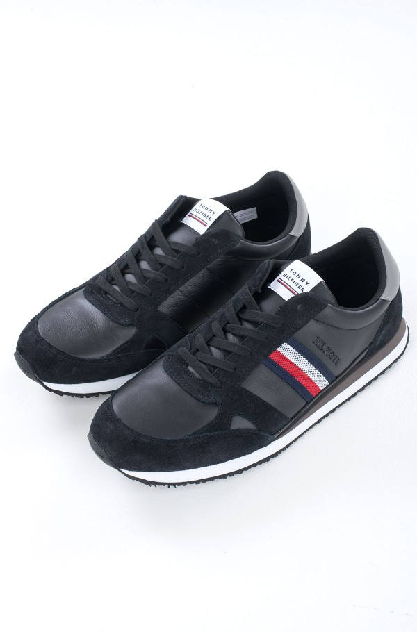 RUNNER LO LEATHER STRIPES-hover