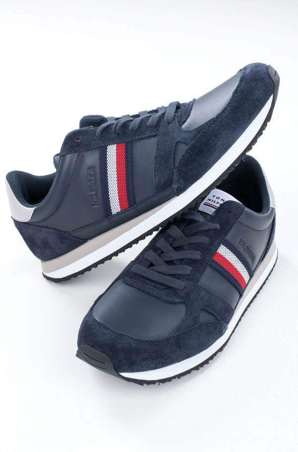 RUNNER LO LEATHER STRIPES