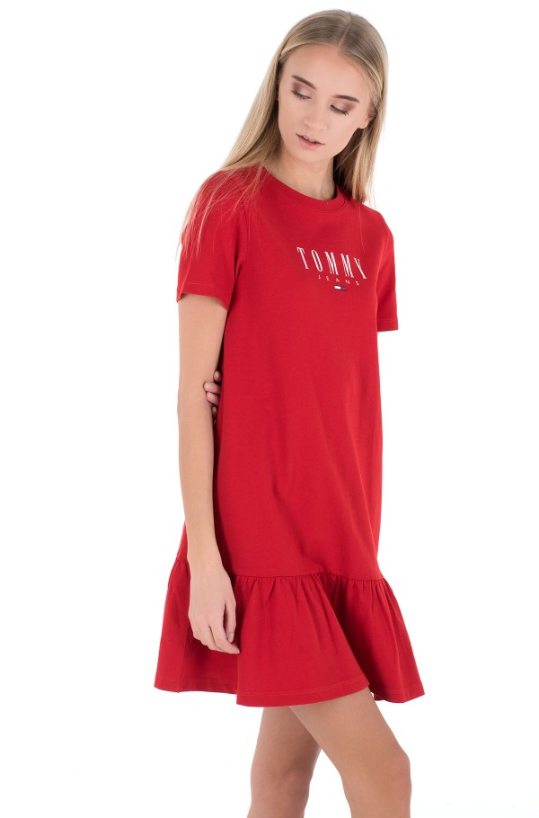 TJW LOGO PEPLUM DRESS