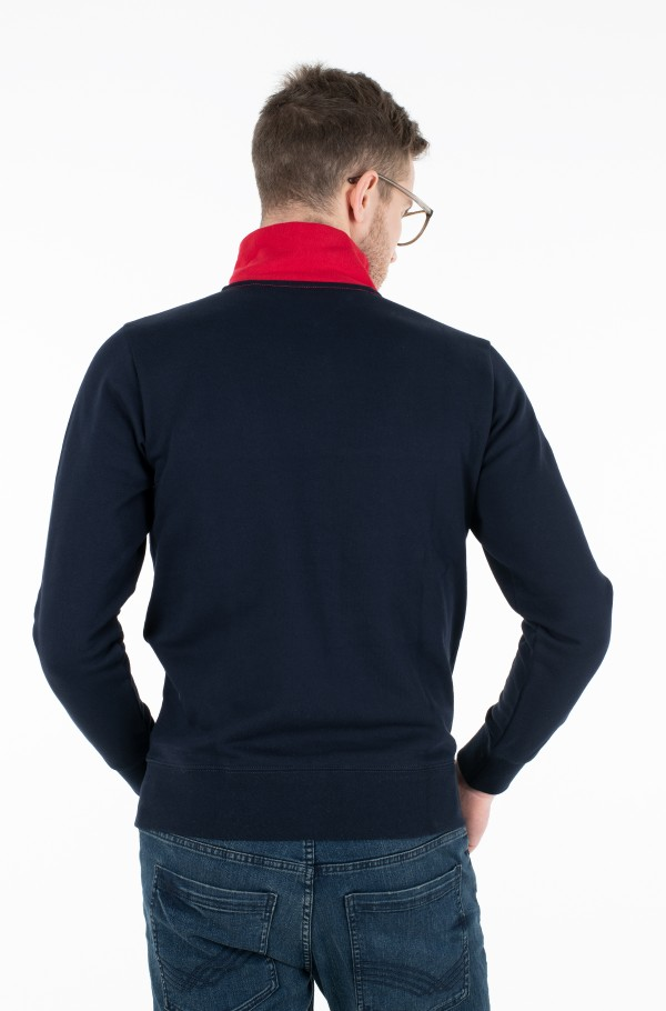 COLOR BLOCK MOCK NECK-hover