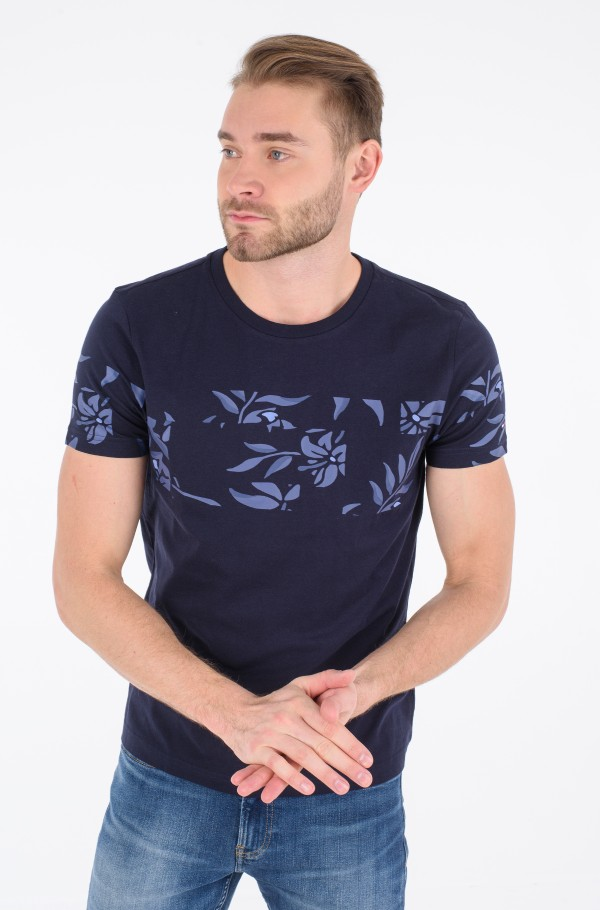 FLORAL PRINT INSERT TEE