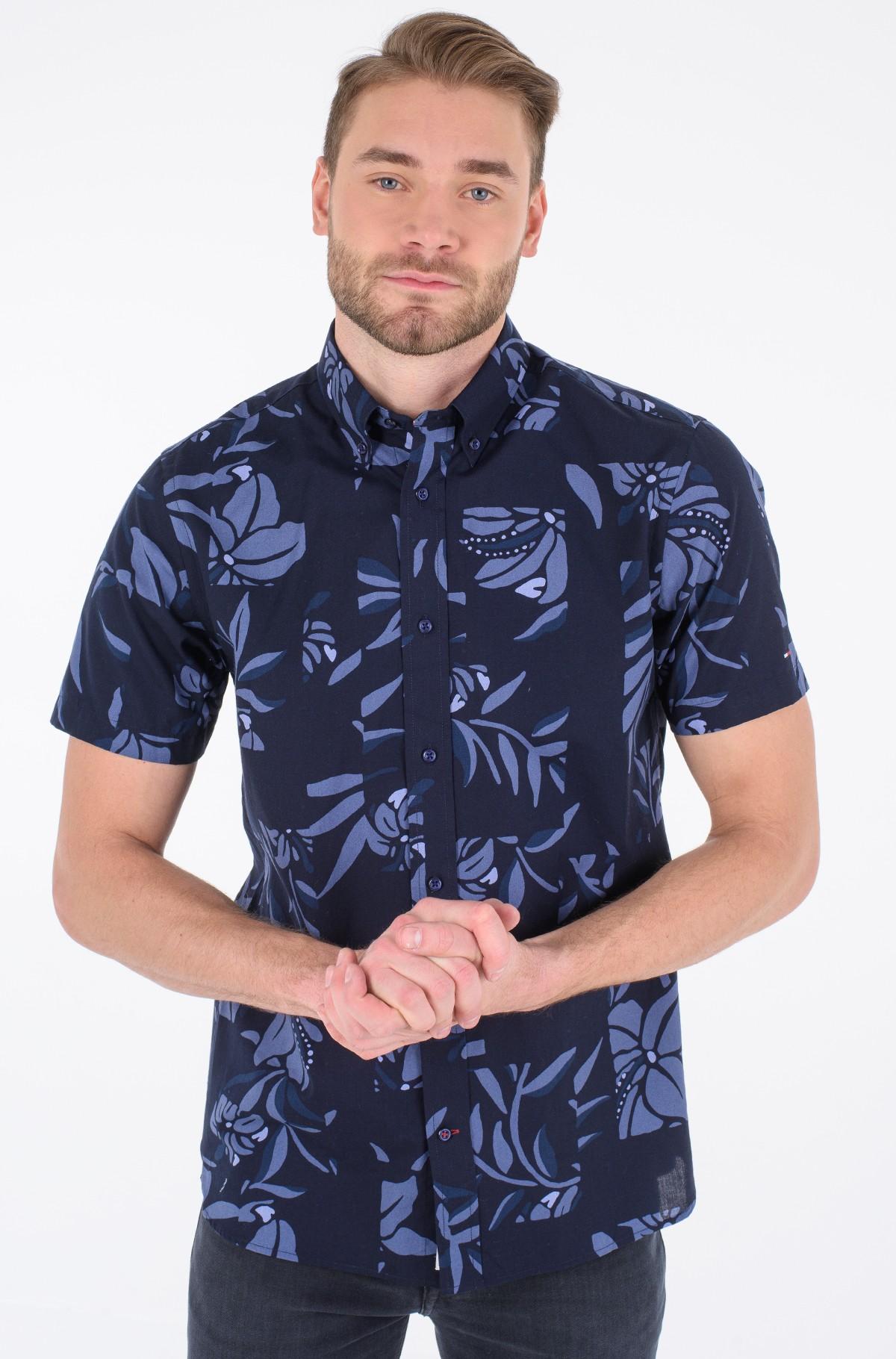 Short sleeve shirt PATCHWORK FLORAL PRINT SHIRT S/S-full-1