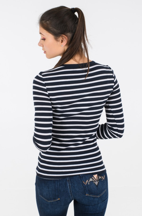 TH ESS SKINNY OPEN-NK RIB TOP LS-hover