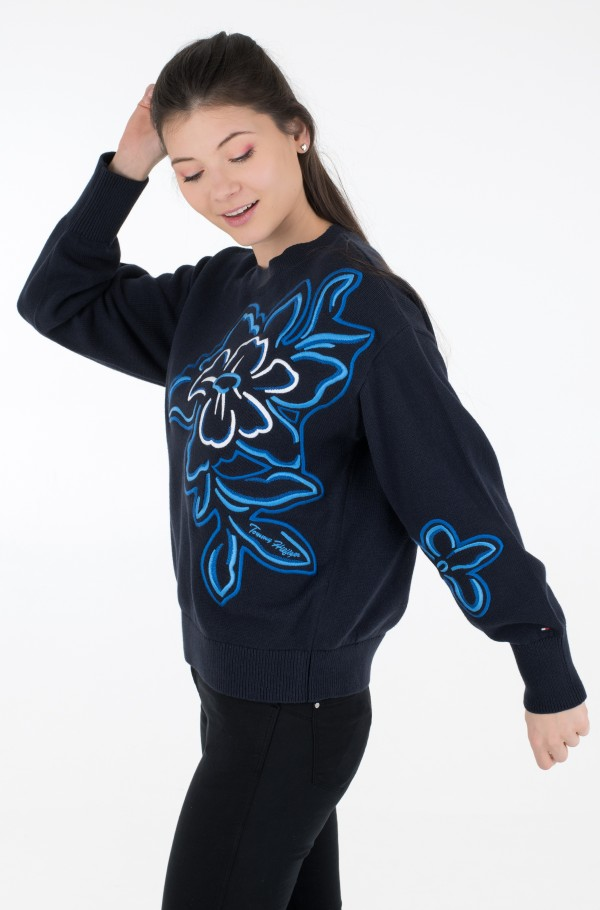 ORG CO FLOWER C-NK SWT LS