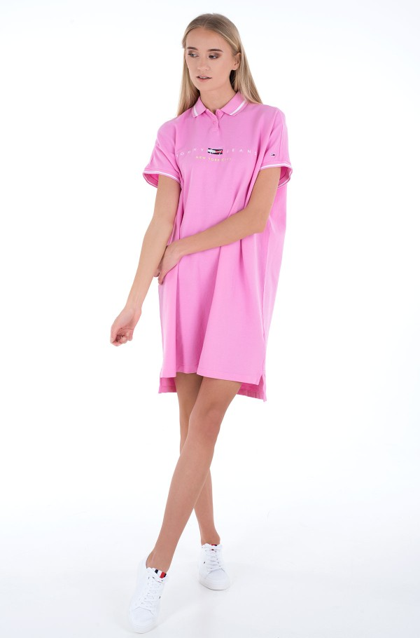 TJW MODERN LOGO POLO DRESS