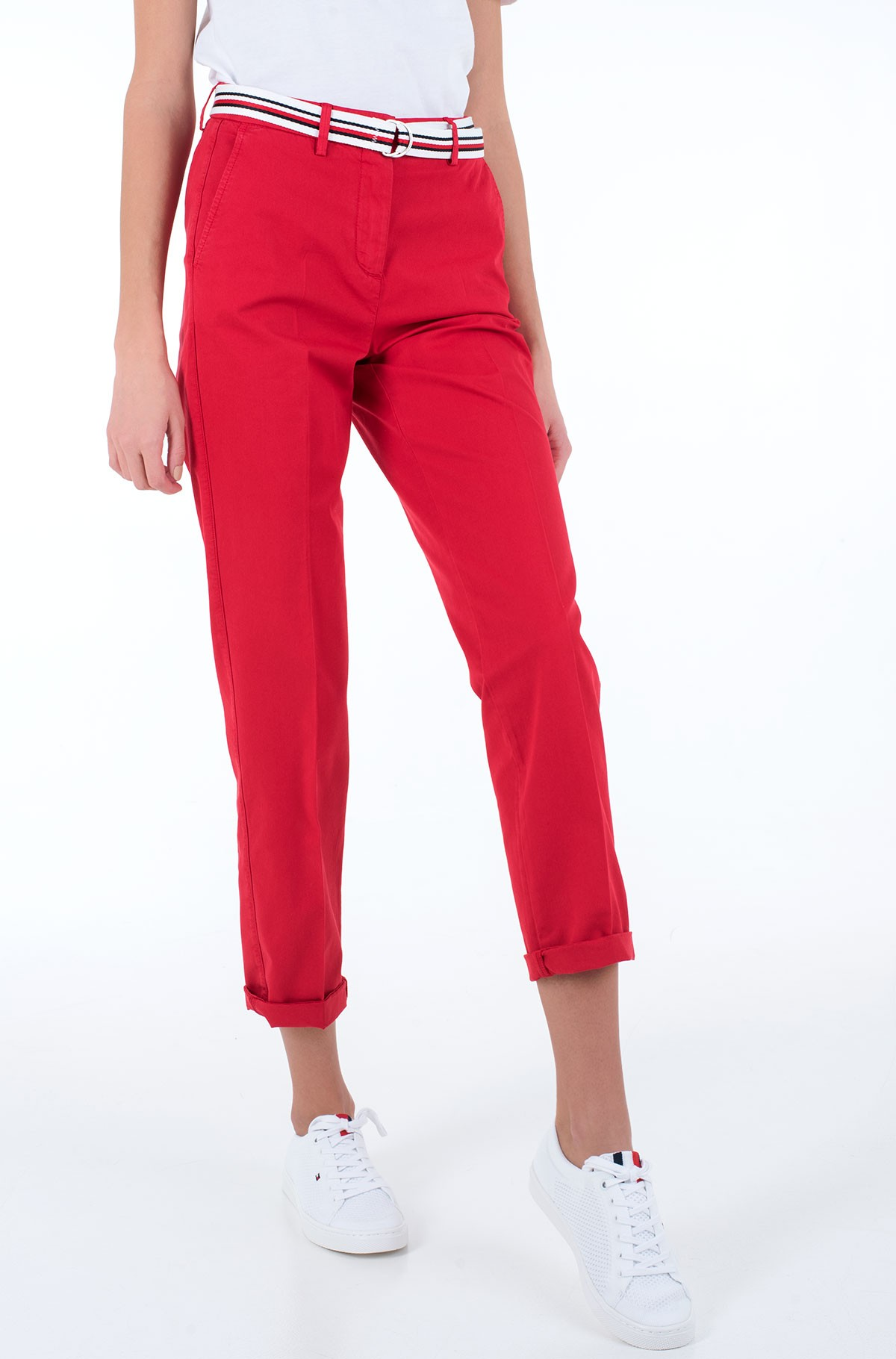 Fabric trousers CO TENCEL CHINO SLIM PANT-full-1