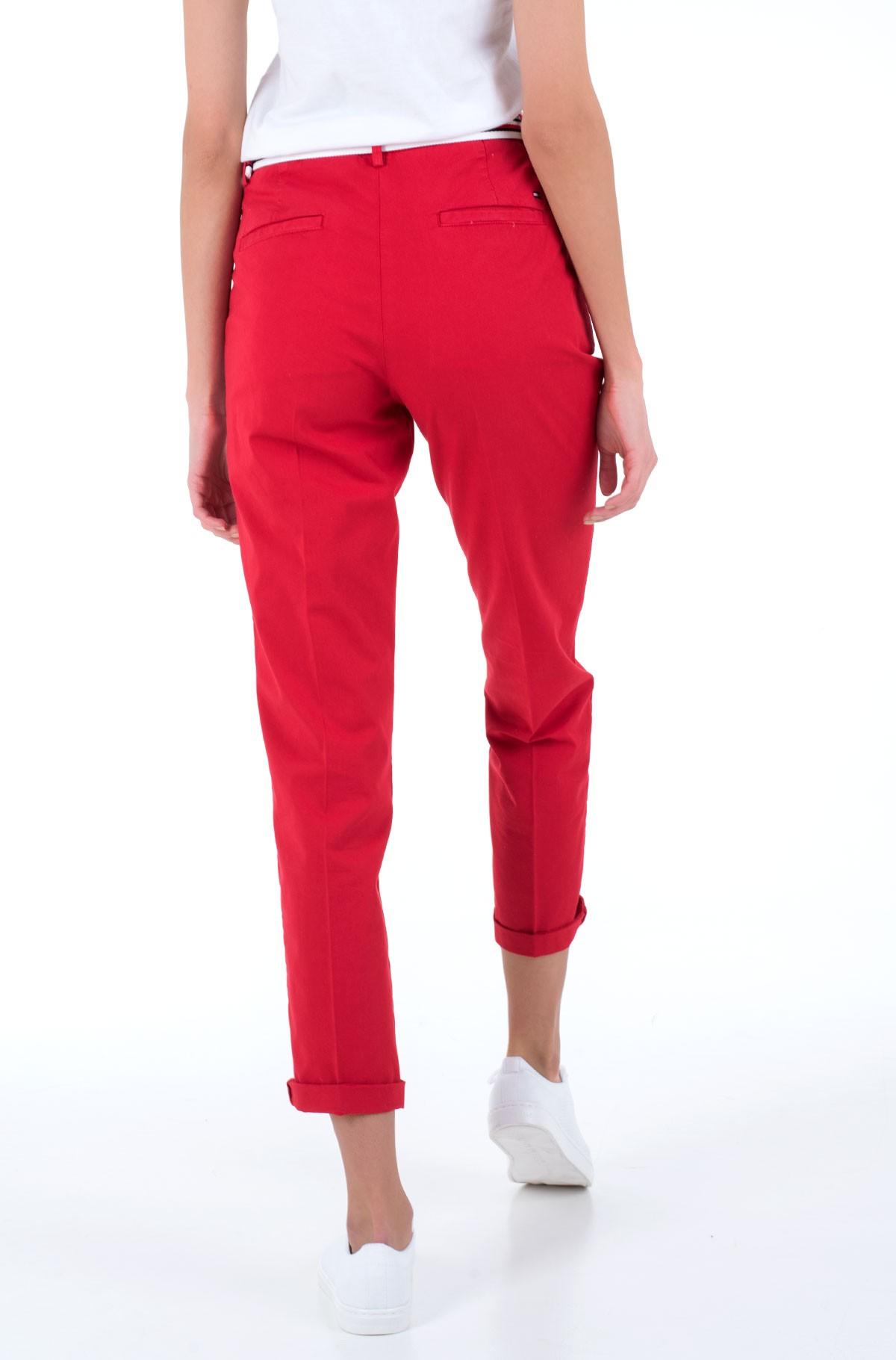 Fabric trousers CO TENCEL CHINO SLIM PANT-full-2