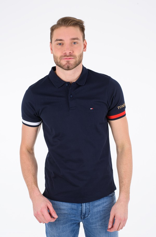 FLAG CUFF SLIM POLO