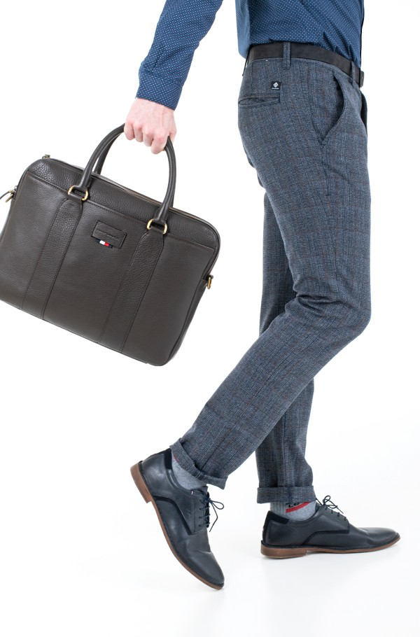 CASUAL LEATHER SLIM COMPUTER BAG