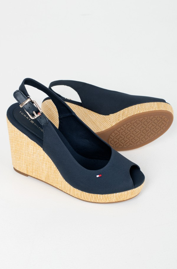 ICONIC ELENA SLING BACK WEDGE-hover