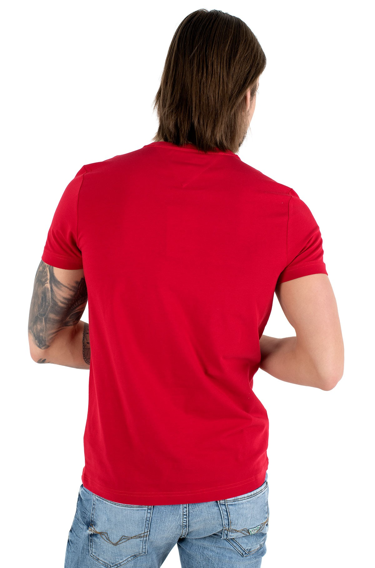 Marškinėliai STRETCH SLIM FIT TEE-full-2