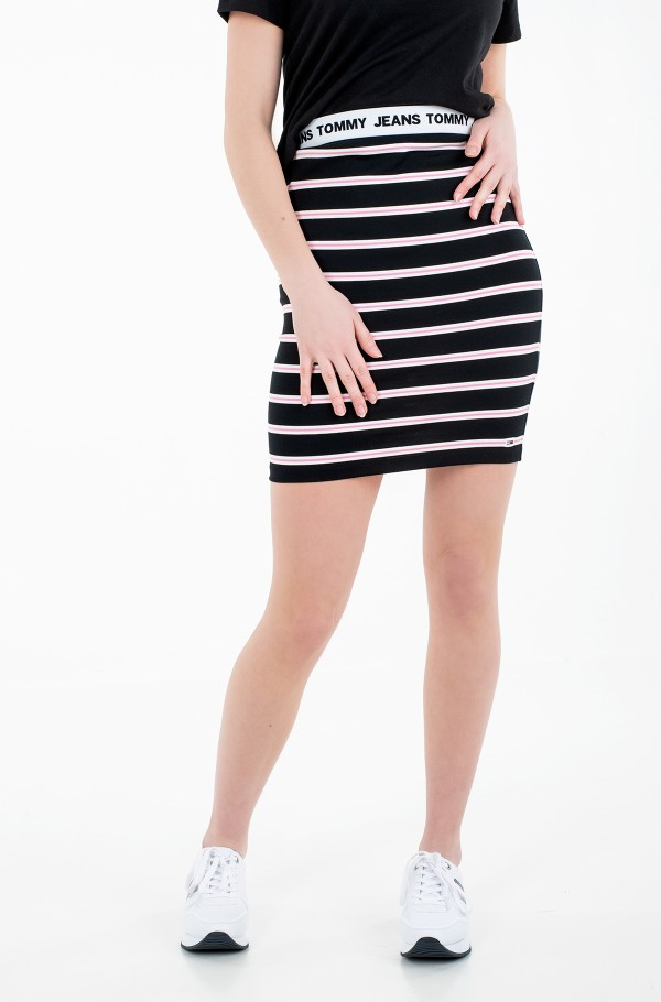 TJW STRIPE BODYCON MID SKIRT