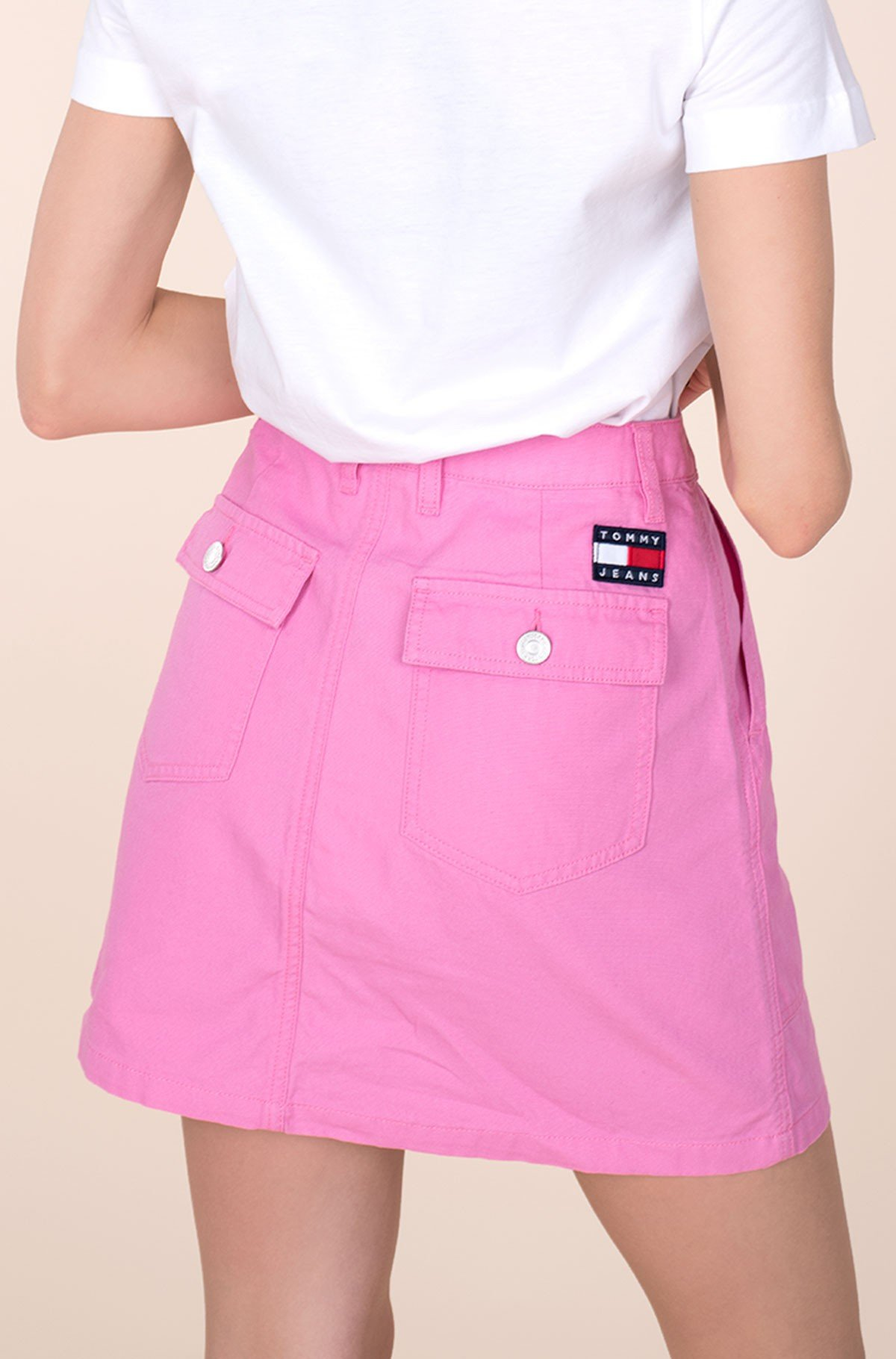 Seelik TJW BADGE BUTTON THROUGH SKIRT-full-2