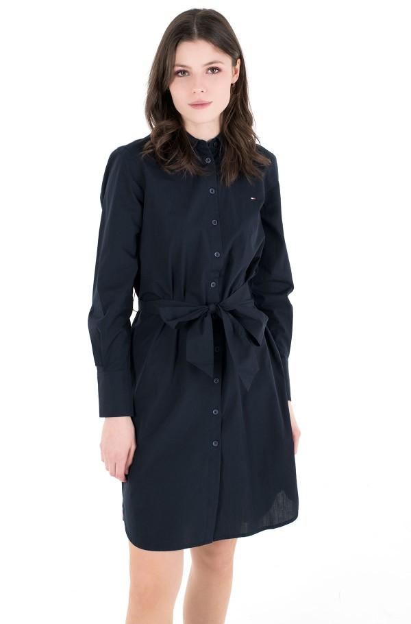POP MONICA KNEE SHIRT DRESS LS