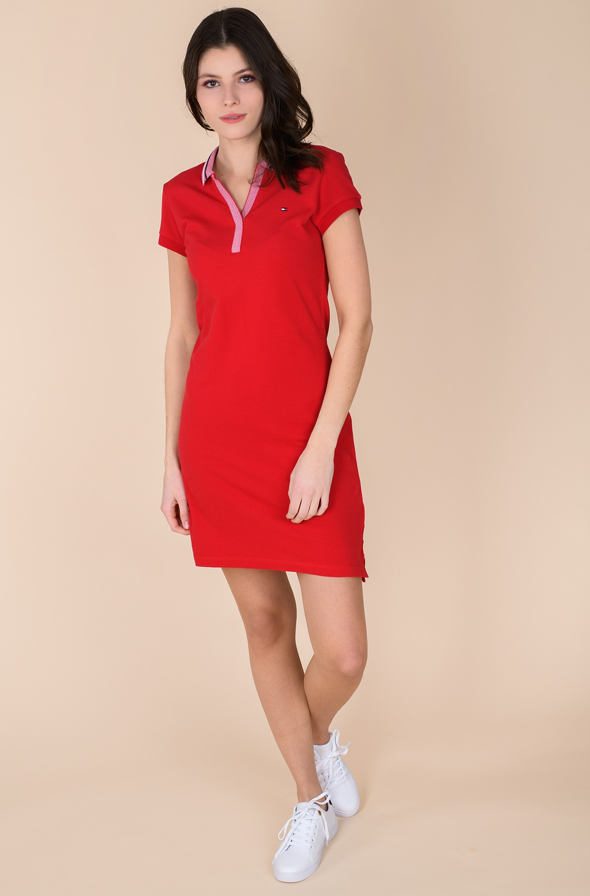 Polodress TIPPING SLIM POLO SHORT DRESS SS	-full-2
