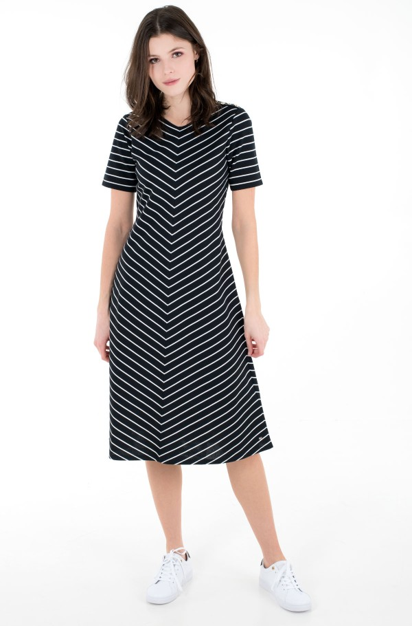 PINSTRIPE F&F KNEE DRESS SS