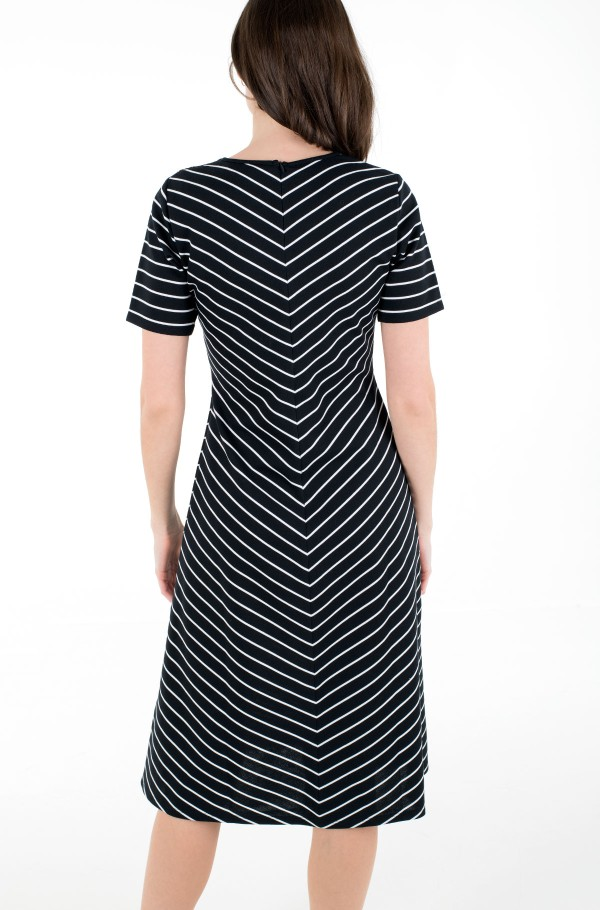 PINSTRIPE F&F KNEE DRESS SS-hover