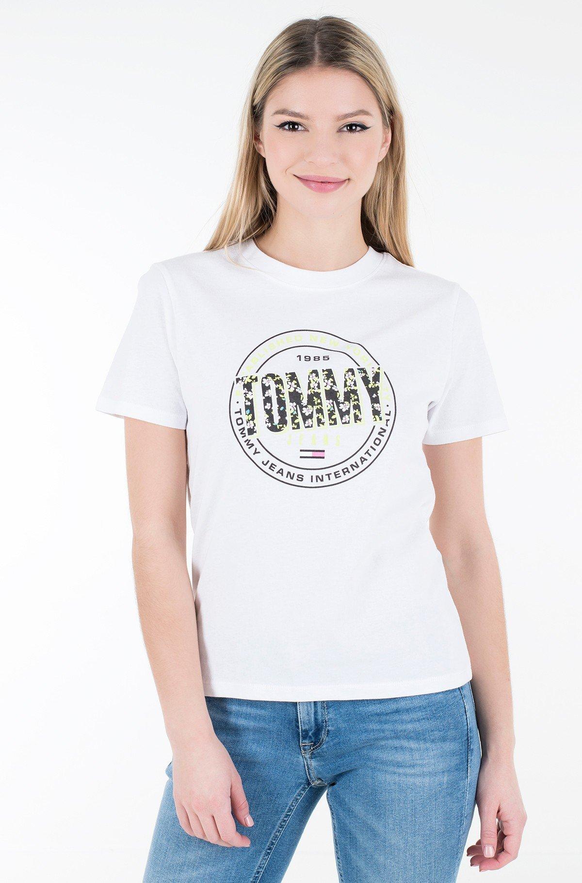 Marškinėliai TJW SLIM FLORAL PRINT TEE-full-1