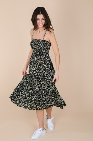 Kleit TJW SMOCK MIDI FLORAL DRESS	-3