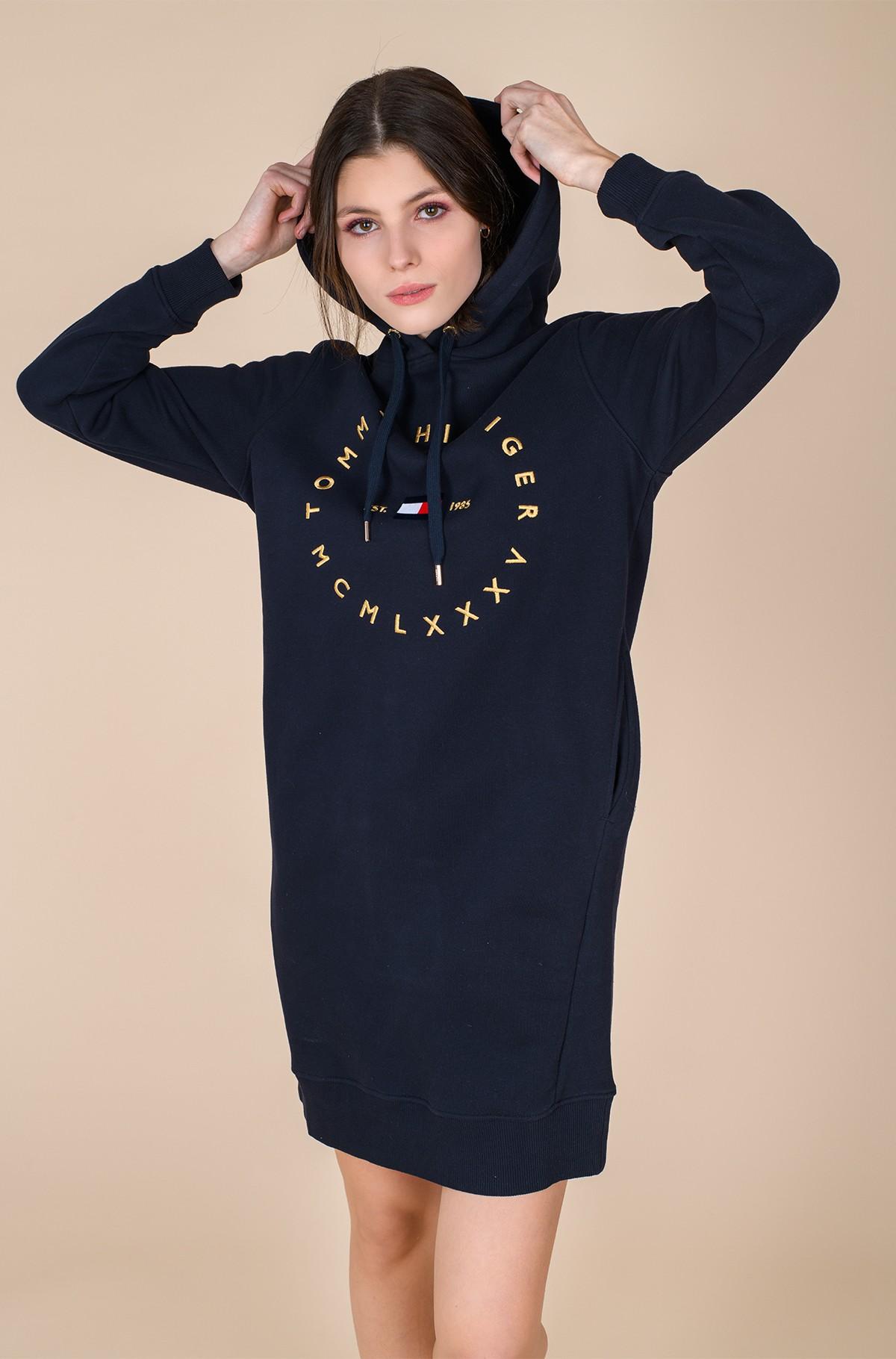 Sweatshirt dress CIRCLE HOODIE SHORT DRESS LS-full-1