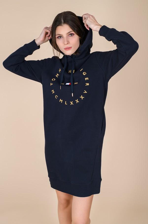 CIRCLE HOODIE SHORT DRESS LS