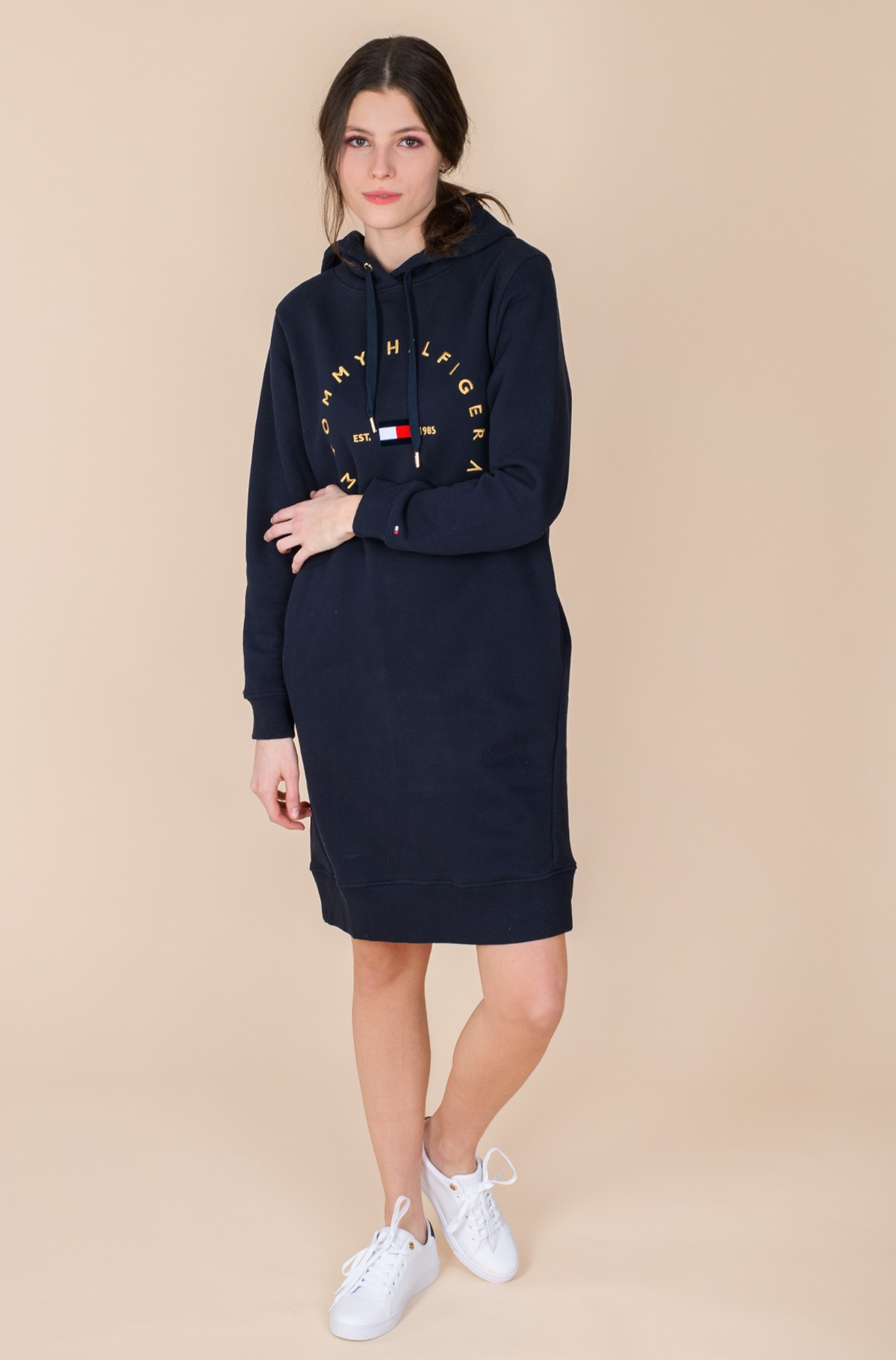 Sweatshirt dress CIRCLE HOODIE SHORT DRESS LS-full-3