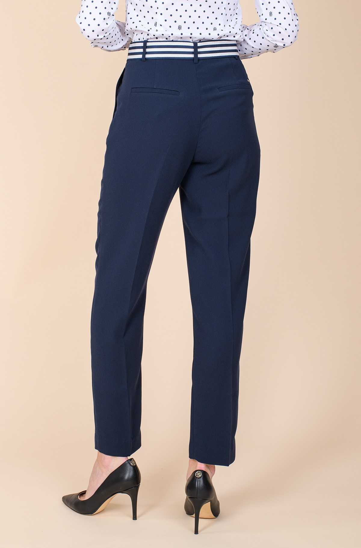 Suit trousers CREPE BELTED TAPERED ANKLE PAN-full-2
