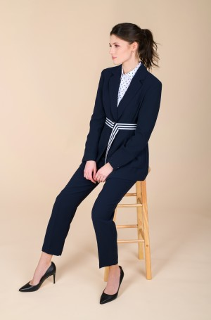 Suit trousers CREPE BELTED TAPERED ANKLE PAN-3
