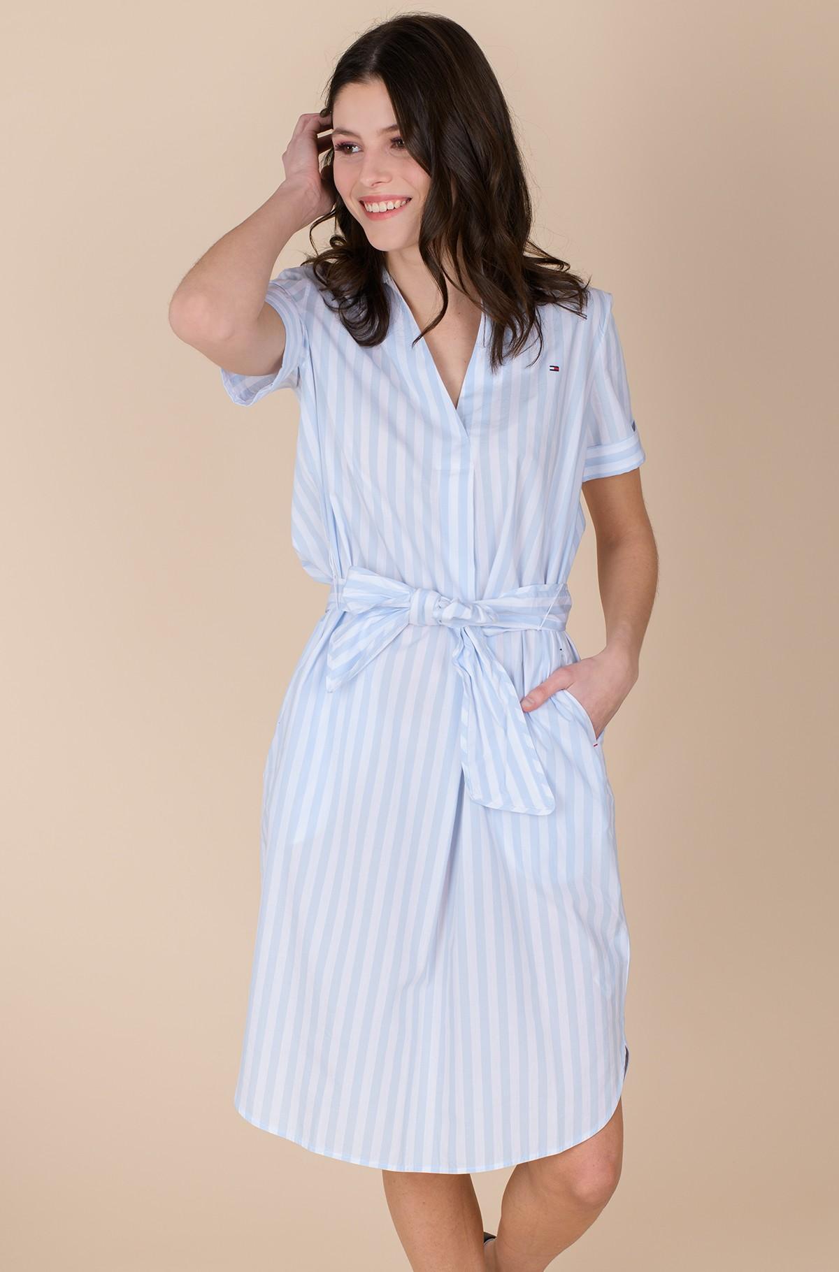 Dress COT POPLIN KNEE SHIRT DRESS SS-full-3