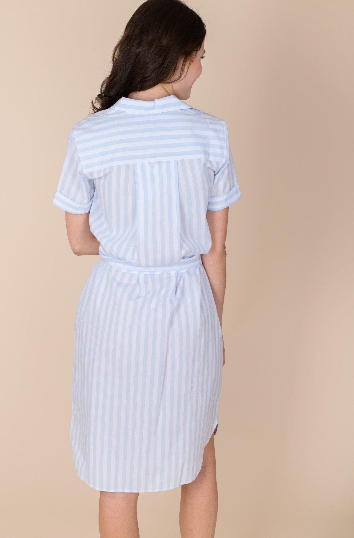 Dress COT POPLIN KNEE SHIRT DRESS SS-full-4