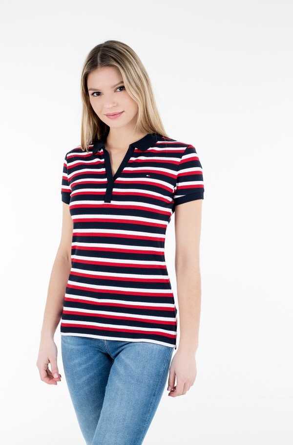 SLIM STRIPE POLO SS