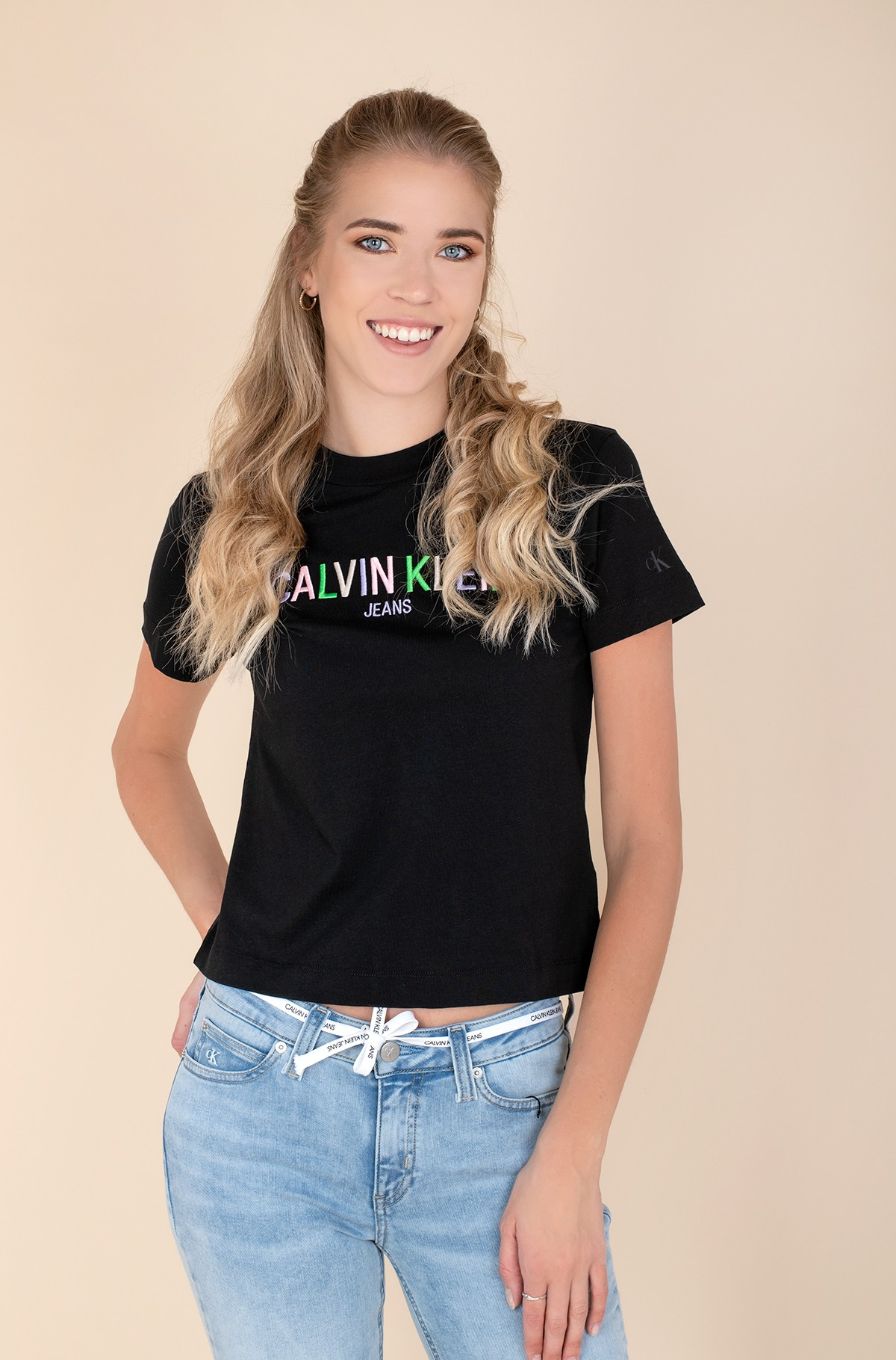 T-shirt MULTICOLORED LOGO TEE-full-1