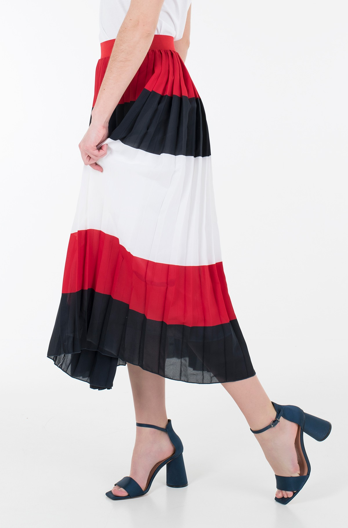 Skirt CREPE PLEATED MIDI SKIRT-full-1